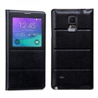 Черный чехол с окном Hoco для Samsung Galaxy Note 4 обложка и задняя крышка - Hoco Original Series S View Case Black