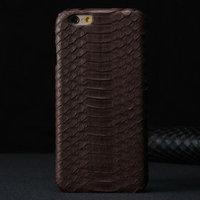 """Премиум чехол из кожи змеи для iPhone 6 / 6s (4.7"""") коричневый"""