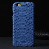 "Премиум чехол из кожи змеи для iPhone 6 / 6s (4.7"") синий"