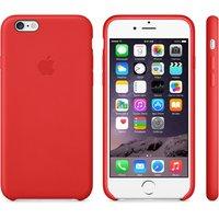 """Кожаный чехол для iPhone 6 / 6s (4.7"""") красный - iPhone 6 / 6s Leather Case - Red"""