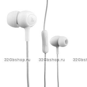 Наушники Hoco M3 Universal Earphone (1.2 м) с микрофоном белые
