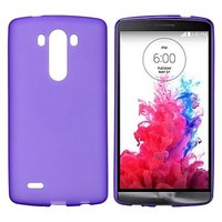 Фиолетовый матовый силиконовый чехол для LG G3