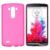 Розовый матовый силиконовый чехол для LG G3