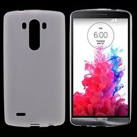 Белый матовый силиконовый чехол для LG G3