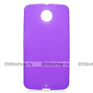Фиолетовый матовый силиконовый чехол для Goole Nexus 6