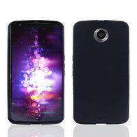 Черный матовый силиконовый чехол для Goole Nexus 6