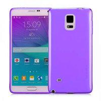 Фиолетовый прозрачный силиконовый чехол для Samsung Galaxy Note 4