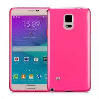 Розовый прозрачный силиконовый чехол для Samsung Galaxy Note 4