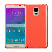 Красный прозрачный силиконовый чехол для Samsung Galaxy Note 4