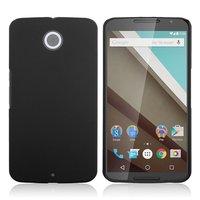 Матовый пластиковый чехол для Goole Nexus 6 черный с покрытием soft touch