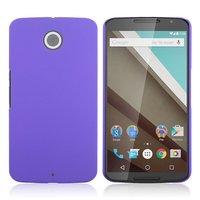 Матовый пластиковый чехол для Goole Nexus 6 фиолетовый с покрытием soft touch