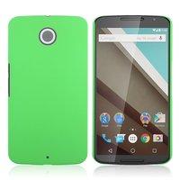 Матовый пластиковый чехол для Goole Nexus 6 зеленый с покрытием soft touch