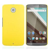 Матовый пластиковый чехол для Goole Nexus 6 желтый с покрытием soft touch