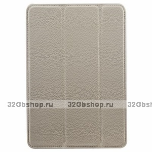 Белый кожаный чехол Melkco для iPad mini 3 / mini 2 Retina/ mini Premium Leather Slimme Case White