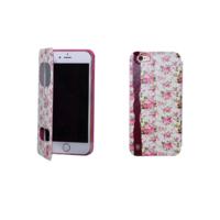 """Чехол книжка для iPhone 6 / 6s (4.7"""") розовые цветы"""