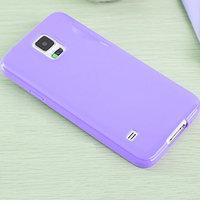 Фиолетовый силиконовый чехол для Samsung Galaxy S5 mini