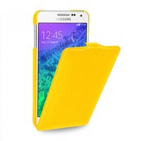 Желтый чехол Art Case для Samsung Galaxy Alpha SM-G850 - Yellow