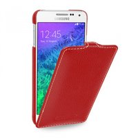 Красный чехол Art Case для Samsung Galaxy Alpha SM-G850 - Red