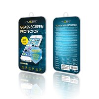 Голубое зеркальное защитное стекло AUZER для Apple iPhone 5s / SE / 5 / 5C Blue