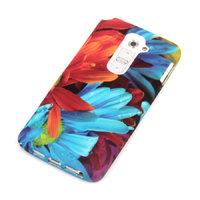 Силиконовый чехол для LG G2 с рисунком лепестки цветов