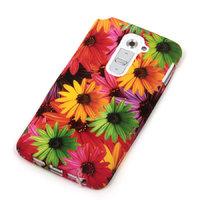 Силиконовый чехол для LG G2 с рисунком цветы герберы