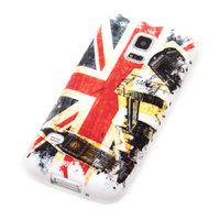 Чехол силиконовый для Samsung Galaxy S5 mini Биг Бен и флаг Великобритании
