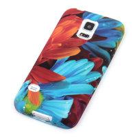 Чехол силиконовый для Samsung Galaxy S5 mini с рисунком цветы