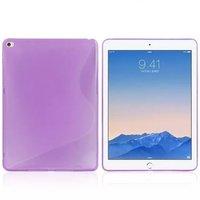 Фиолетовый силиконовый чехол для iPad Air 2 - S Line Purple Silicone Case