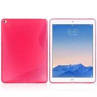 Розовый силиконовый чехол для iPad Air 2 - S Line Pink Silicone Case
