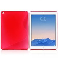 Красный силиконовый чехол для iPad Air 2 - S Line Pink Silicone Case