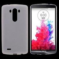 Белый силиконовый чехол для LG Optimus G3 S / mini