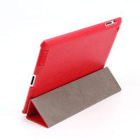 Кожаный чехол Goethe для iPad 4 / 3 / 2 красный