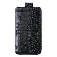 Премиум чехол из кожи крокодила для Samsung Galaxy S6 черный