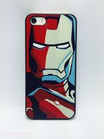 Пластиковый чехол накладка для iPhone 5s / SE / 5 с рисунком железный человек / Iron Men