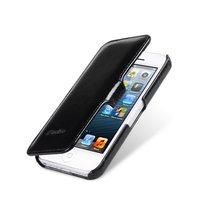 Винтажный кожаный чехол книга Melkco для iPhone 5s / SE / 5 черный - Leather Case Booka Type Vintage Black