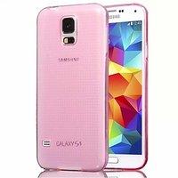 Розовый прозрачный силиконовый чехол для Samsung Galaxy S5 mini