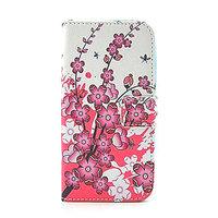 Чехол книжка для Samsung Galaxy S5 mini розовые цветы - Pink Flowers Book Case