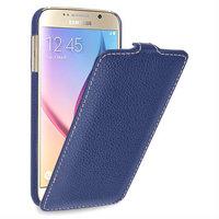 Синий кожаный чехол для Samsung Galaxy S6 - Sipo V-series BlueLeather Case