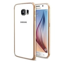 Золотой алюминиевый бампер для Samsung Galaxy S6