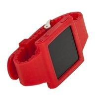 Силиконовый чехол для iPod nano 6 браслет с металлической застежкой красный