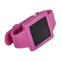 Силиконовый чехол для iPod nano 6 браслет с металлической застежкой розовый