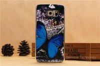 Пластиковый чехол накладка для Samsung Galaxy S6 Edge бабочка