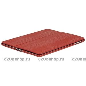 Кожаный чехол Borofone Crocodile pattern Red для iPad 4 / 3 / 2 красный