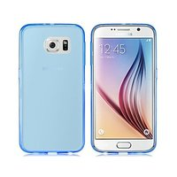 Голубой прозрачный силиконовый чехол для Samsung Galaxy S6