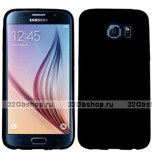 Черный силиконовый чехол для Samsung Galaxy S6 Edge