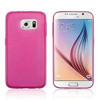 Розовый силиконовый чехол для Samsung Galaxy S6 Edge