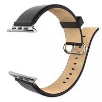 Черный кожаный ремешок Hoco для Apple Watch 44mm / 42mm - Hoco Genuine Leather Wrist Strap Black