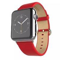 Красный кожаный ремешок Hoco для Apple Watch 42mm - Hoco Genuine Leather Wrist Strap Red