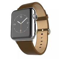 Коричневый кожаный ремешок Hoco для Apple Watch 42mm - Hoco Genuine Leather Wrist Strap Brown