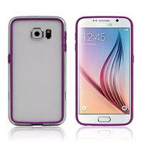 Фиолетовый бампер для Samsung Galaxy S6 с прозрачной полосой